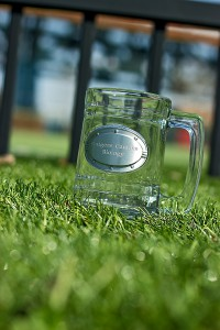 Biology Soccer Tournament Cup on Grass