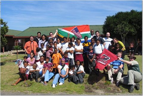 Sharing Rutgers with South African schoolchildren.