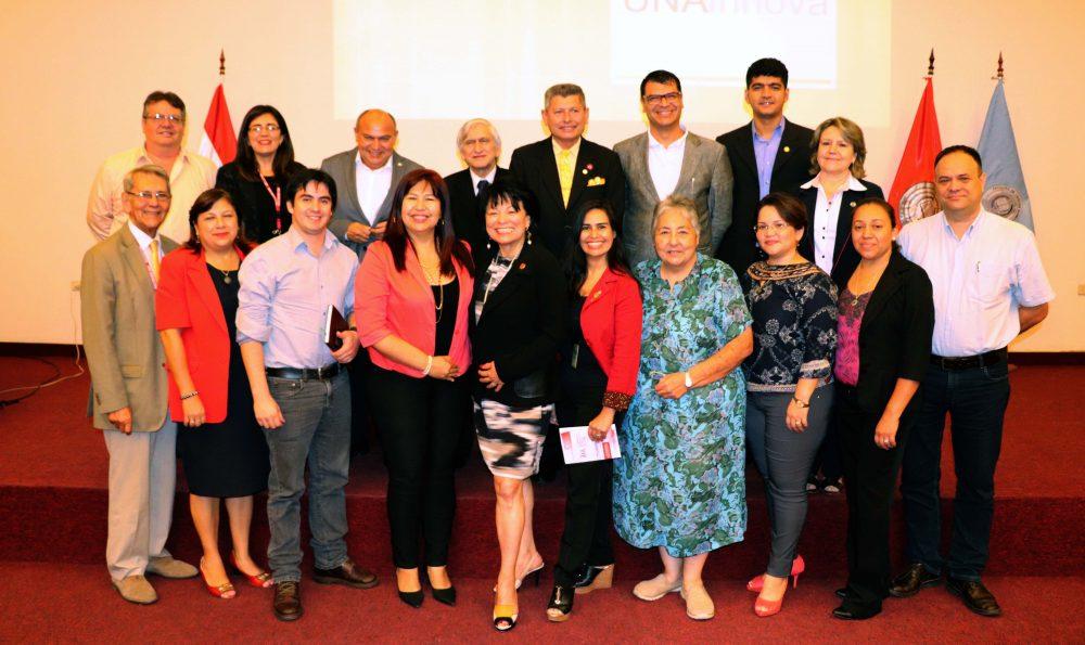 Photo of Dr. Bonilla Santiago with Deans of the University National de Asuncion (UNA) Paraguay