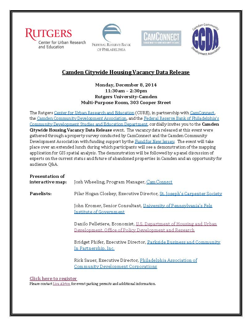 Camden Citywide Housing Vacancy Data Release