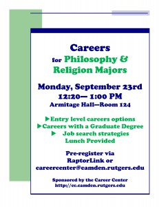 Careers for Philosophy and Religion majors