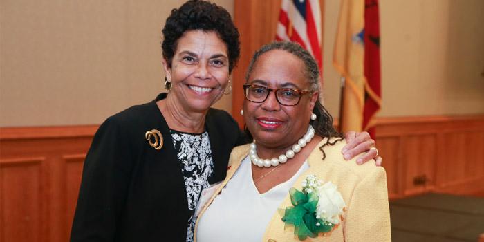 Dr. Gwendolyn Harris & Chancellor Phoebe Haddon
